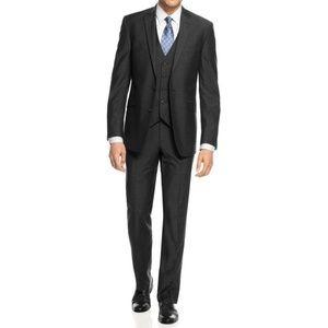 Braveman Men's 3 pc. Slim Fit Suit Charcoal Gray